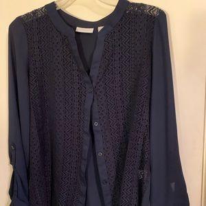 NY&C navy blue blouse